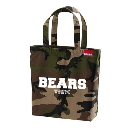 ■ BEARS TOKYOトートバッグ TOTE BAG BEARS TOKYO LOGO (ベアーズトウキョウロゴ) カモフラージュ