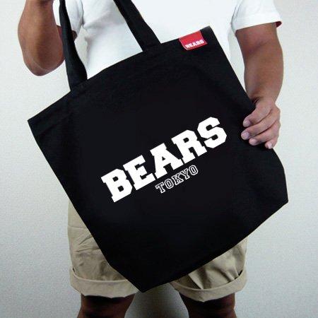 ■ BEARS TOKYOトートバッグ TOTE BAG BEARS TOKYO LOGO (ベアーズトウキョウロゴ) ブラック