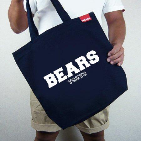 ■ BEARS TOKYOトートバッグ TOTE BAG BEARS TOKYO LOGO (ベアーズトウキョウロゴ) ネイビー
