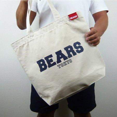 ■ BEARS TOKYOトートバッグ TOTE BAG BEARS TOKYO LOGO (ベアーズトウキョウロゴ) ナチュラル