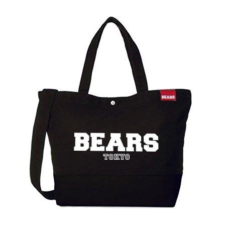 ■ BEARS TOKYO ツーウェイ ショルダートートバッグ 2WAY TOTE BAG BEARS TOKYO LOGO (ベアーズトウキョウロゴ) ブラック
