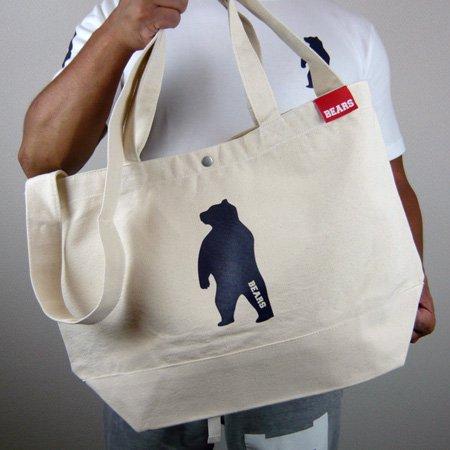 ■ BEARS TOKYO ツーウェイ ショルダートートバッグ 2WAY TOTE BAG ANIMAL BEAR (アニマルベアー) ナチュラル