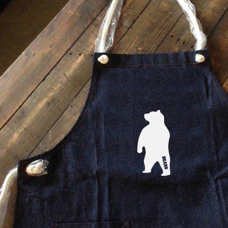 ■ BEARS TOKYO デニム エプロン DENIM APRON ANIMAL BEAR (アニマルベアー) ダークブルー