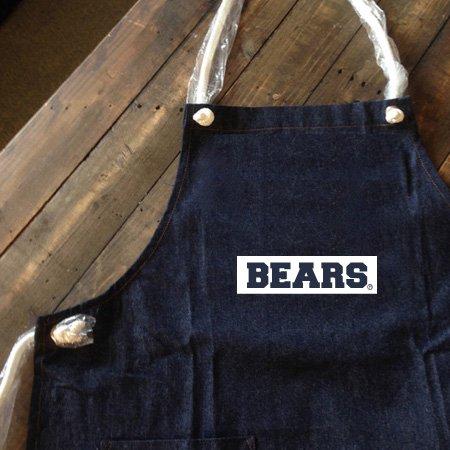■ BEARS TOKYO デニム エプロン DENIM APRON BOX LOGO (ボックスロゴ) ダークブルー