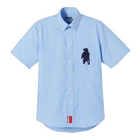 ■ BEARS TOKYO 半袖シャツ SHORT-SLEEVED SHIRT ANIMAL BEAR (アニマルベアー) ブルー×ネイビー