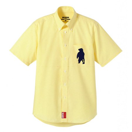 ■ BEARS TOKYO 半袖シャツ SHORT-SLEEVED SHIRT ANIMAL BEAR (アニマルベアー) イエロー