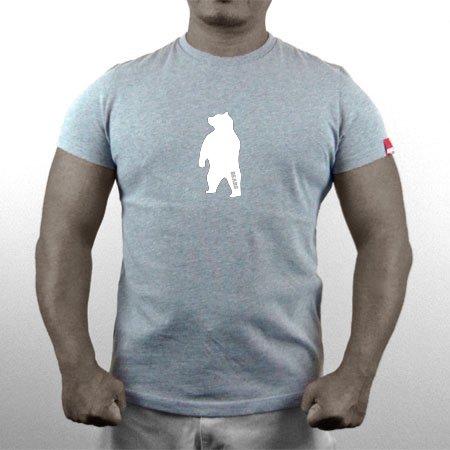 ■ BEARS TOKYO ネオマッスル Tシャツ ANIMAL MIDDLE BEAR (アニマルミドルベアー) グレー×ホワイト