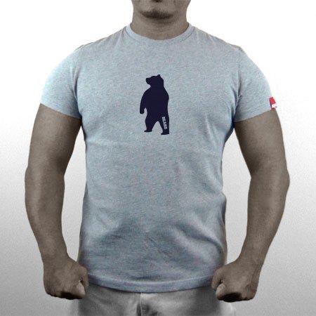 ■ BEARS TOKYO ネオマッスル Tシャツ ANIMAL MIDDLE BEAR (アニマルミドルベアー) グレー×ネイビー
