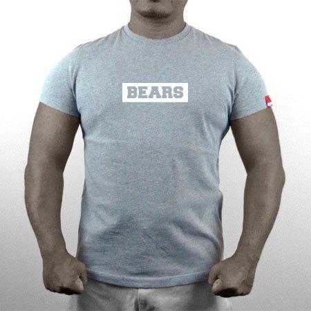 ■ BEARS TOKYO ネオマッスル Tシャツ BEARS BOX LOGO (ベアーズボックスロゴ) グレー×ホワイト