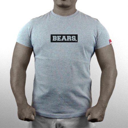 ■ BEARS TOKYO ネオマッスル Tシャツ BEARS BOX LOGO (ベアーズボックスロゴ) グレー×ブラック