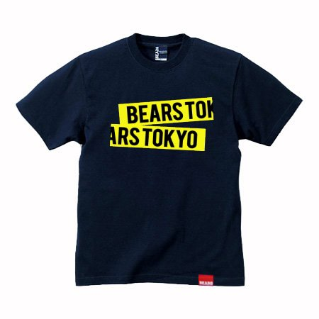 <img class='new_mark_img1' src='//img.shop-pro.jp/img/new/icons13.gif' style='border:none;display:inline;margin:0px;padding:0px;width:auto;' />■ BEARS TOKYO Tシャツ BEARS TOKYO YELLOW TAPE (ベアーズトウキョウコンイエローテープ) ネイビー