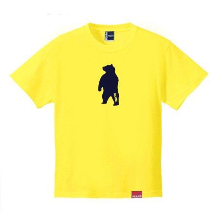 ■ BEARS TOKYO Tシャツ ANIMAL MIDDLE BEAR (アニマルミドルベアー) イエロー×ネイビー