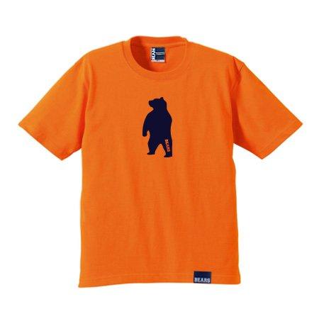 ■ BEARS TOKYO Tシャツ ANIMAL MIDDLE BEAR (アニマルミドルベアー) オレンジ×ネイビー