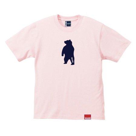■ BEARS TOKYO Tシャツ ANIMAL MIDDLE BEAR (アニマルミドルベアー) サーモンピンク×ネイビー