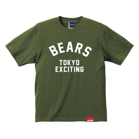 <img class='new_mark_img1' src='//img.shop-pro.jp/img/new/icons13.gif' style='border:none;display:inline;margin:0px;padding:0px;width:auto;' />■ BEARS TOKYO Tシャツ BEARS NEO TOKYO (ベアーズネオトウキョウ) カーキ