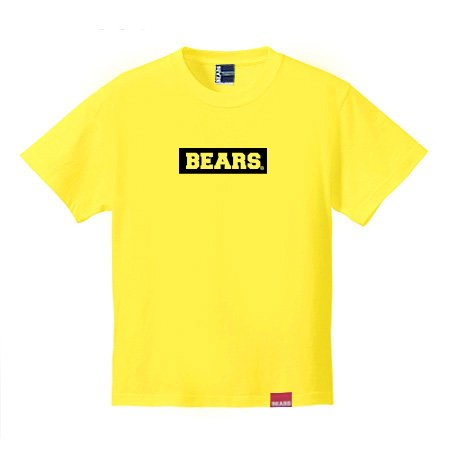 <img class='new_mark_img1' src='//img.shop-pro.jp/img/new/icons13.gif' style='border:none;display:inline;margin:0px;padding:0px;width:auto;' />■ BEARS TOKYO Tシャツ BEARS BOX LOGO (ベアーズボックスロゴ) イエロー×ブラック