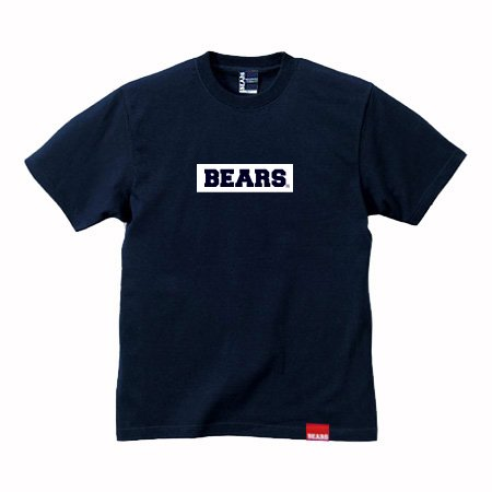 <img class='new_mark_img1' src='//img.shop-pro.jp/img/new/icons13.gif' style='border:none;display:inline;margin:0px;padding:0px;width:auto;' />■ BEARS TOKYO Tシャツ BEARS BOX LOGO (ベアーズボックスロゴ) ネイビー×ホワイト