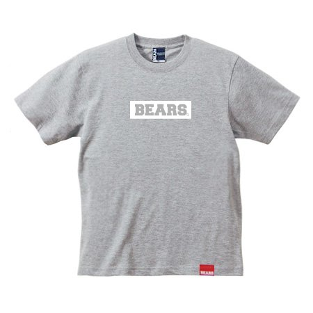 <img class='new_mark_img1' src='//img.shop-pro.jp/img/new/icons13.gif' style='border:none;display:inline;margin:0px;padding:0px;width:auto;' />■ BEARS TOKYO Tシャツ BEARS BOX LOGO (ベアーズボックスロゴ) グレー×ホワイト