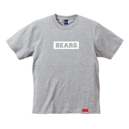 ■ BEARS TOKYO Tシャツ BEARS BOX LOGO (ベアーズボックスロゴ) グレー×ホワイト