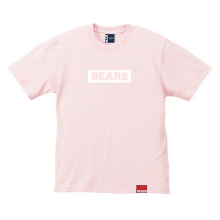 <img class='new_mark_img1' src='//img.shop-pro.jp/img/new/icons13.gif' style='border:none;display:inline;margin:0px;padding:0px;width:auto;' />■ BEARS TOKYO Tシャツ BEARS BOX LOGO (ベアーズボックスロゴ) サーモンピンク×ホワイト