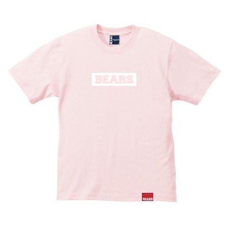 ■ BEARS TOKYO Tシャツ BEARS BOX LOGO (ベアーズボックスロゴ) サーモンピンク×ホワイト