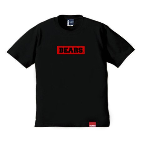 <img class='new_mark_img1' src='//img.shop-pro.jp/img/new/icons13.gif' style='border:none;display:inline;margin:0px;padding:0px;width:auto;' />■ BEARS TOKYO Tシャツ BEARS BOX LOGO (ベアーズボックスロゴ) ブラック×レッド