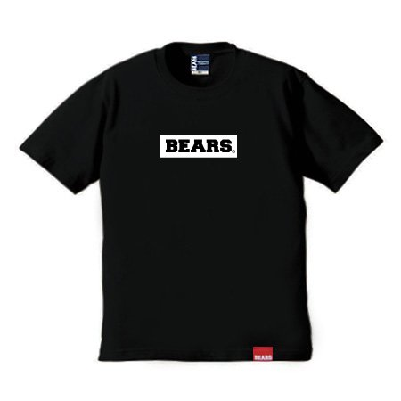 ■ BEARS TOKYO Tシャツ BEARS BOX LOGO (ベアーズボックスロゴ) ブラック×ホワイト