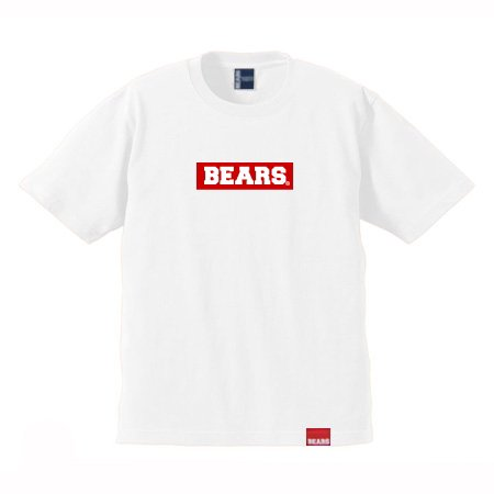 <img class='new_mark_img1' src='//img.shop-pro.jp/img/new/icons13.gif' style='border:none;display:inline;margin:0px;padding:0px;width:auto;' />■ BEARS TOKYO Tシャツ BEARS BOX LOGO (ベアーズボックスロゴ) ホワイト×レッド