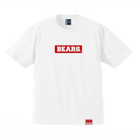 ■ BEARS TOKYO Tシャツ BEARS BOX LOGO (ベアーズボックスロゴ) ホワイト×レッド
