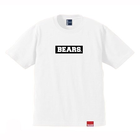 <img class='new_mark_img1' src='//img.shop-pro.jp/img/new/icons13.gif' style='border:none;display:inline;margin:0px;padding:0px;width:auto;' />■ BEARS TOKYO Tシャツ BEARS BOX LOGO (ベアーズボックスロゴ) ホワイト×ブラック