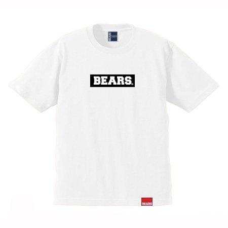 ■ BEARS TOKYO Tシャツ BEARS BOX LOGO (ベアーズボックスロゴ) ホワイト×ブラック