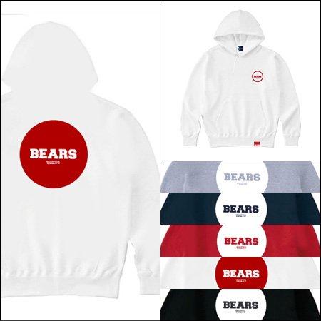 ■ BEARS TOKYO プルオーバースウェットパーカー BEARS TOKYO JAPONISM(ジャポニズム)5色展開