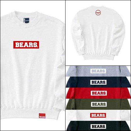 ■ BEARS TOKYO スウェットシャツ BEARS BOX LOGO (ベアーズボックスロゴ) 6色展開