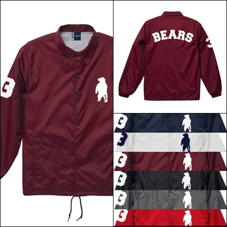 ■ ANIMAL BEAR コーチジャケット COACH JACKET BEARS ARCH (アニマルベアベアーズアーチ) 6色展開