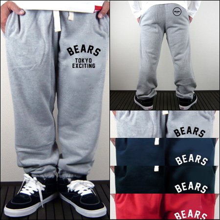 ■ BEARS TOKYO スウェットパンツ BEARS NEO TOKYO(ベアーズネオトウキョウ)4色展開