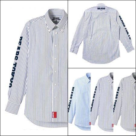 ■ BEARS TOKYO 長袖ストライプシャツ STRIPE SHIRT BEARS TOKYO SLEEVE(ベアーズトウキョウスリーブ)3色展開