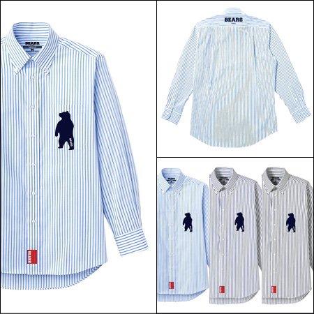 ■ BEARS TOKYO 長袖ストライプシャツ STRIPE SHIRT ANIMAL BEAR(アニマルベアーシャツ)3色展開
