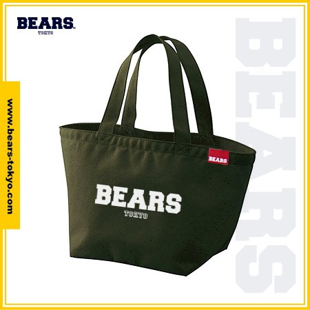 "<img class='new_mark_img1' src='https://img.shop-pro.jp/img/new/icons1.gif' style='border:none;display:inline;margin:0px;padding:0px;width:auto;' />■ BEARS TOKYO LUNCH BAG ランチバッグ ""BEARS LOGO"" (ベアーズロゴ) カーキ"