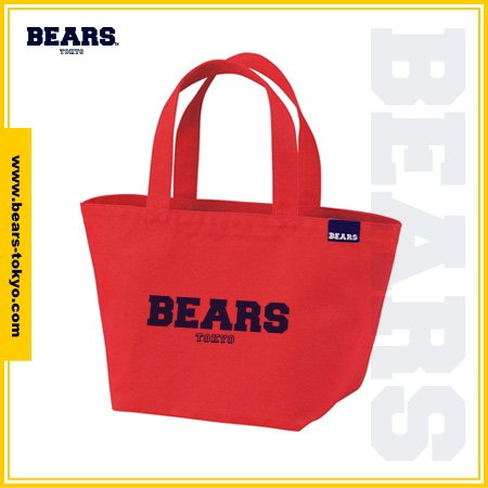 "<img class='new_mark_img1' src='//img.shop-pro.jp/img/new/icons1.gif' style='border:none;display:inline;margin:0px;padding:0px;width:auto;' />■ BEARS TOKYO LUNCH BAG ランチバッグ ""BEARS LOGO"" (ベアーズロゴ) レッド"