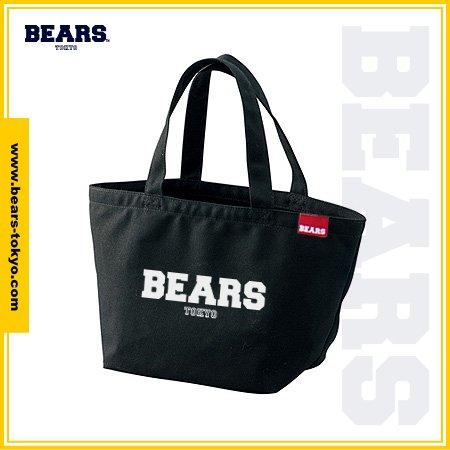 "<img class='new_mark_img1' src='//img.shop-pro.jp/img/new/icons1.gif' style='border:none;display:inline;margin:0px;padding:0px;width:auto;' />■ BEARS TOKYO LUNCH BAG ランチバッグ ""BEARS LOGO"" (ベアーズロゴ) ブラック"