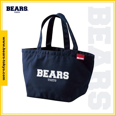 "<img class='new_mark_img1' src='//img.shop-pro.jp/img/new/icons1.gif' style='border:none;display:inline;margin:0px;padding:0px;width:auto;' />■ BEARS TOKYO LUNCH BAG ランチバッグ ""BEARS LOGO"" (ベアーズロゴ) ネイビー"