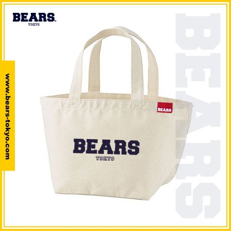 "<img class='new_mark_img1' src='https://img.shop-pro.jp/img/new/icons1.gif' style='border:none;display:inline;margin:0px;padding:0px;width:auto;' />■ BEARS TOKYO LUNCH BAG ランチバッグ ""BEARS LOGO"" (ベアーズロゴ) ナチュラル"