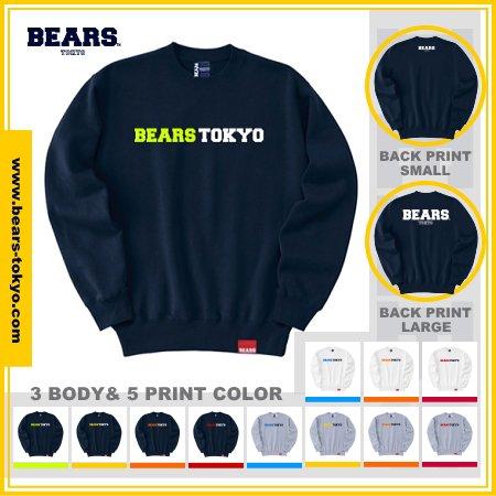 <img class='new_mark_img1' src='https://img.shop-pro.jp/img/new/icons13.gif' style='border:none;display:inline;margin:0px;padding:0px;width:auto;' />■ BEARS TOKYO スウェットシャツ SWEAT SHIRTS