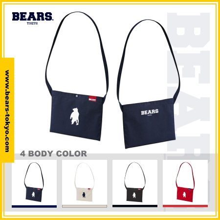 "■ BEARS TOKYO サコッシュ SACOCHE ""ANIMAL BEAR""(アニマルベアー)全4色展開"