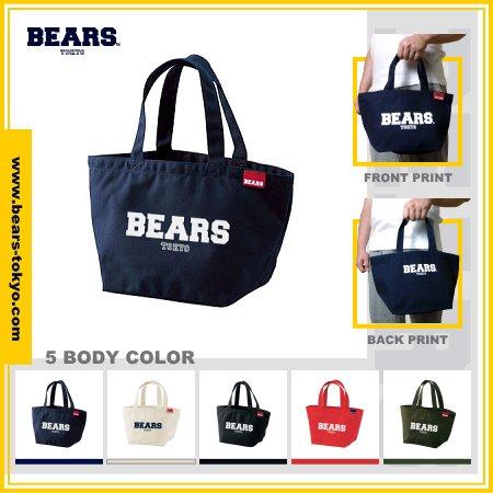 "■ BEARS TOKYO ランチバッグ LUNCH BAG ""BEARS LOGO""(ベアーズロゴ)全5色展開"
