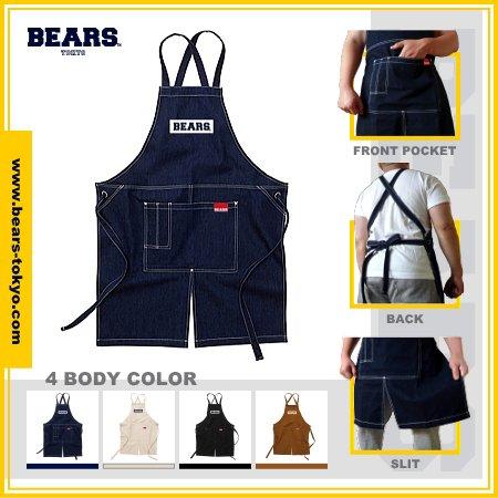 "■ BEARS TOKYO エプロン APRON ""BEARS BOX LOGO""(ベアーズボックスロゴ)全4色展開/ONE SIZE"