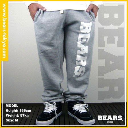 ■ BEARS TOKYO スウェットパンツ BEARS(ベアーズ) グレー×ホワイト