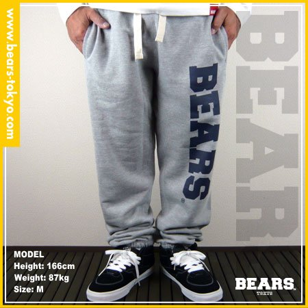 ■ BEARS TOKYO スウェットパンツ BEARS(ベアーズ) グレー×ネイビー
