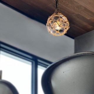 OCEAN PORT LAMP ペンダントランプ ガラス 照明 1灯照明 LED対応  西海岸 ヴィンテージ風 麻