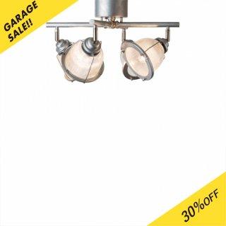 STUDIO DINER CROSS シーリングランプ 照明 ガラス スチールパイプ 4灯照明 LED対応 角度調節 おしゃれ リビング